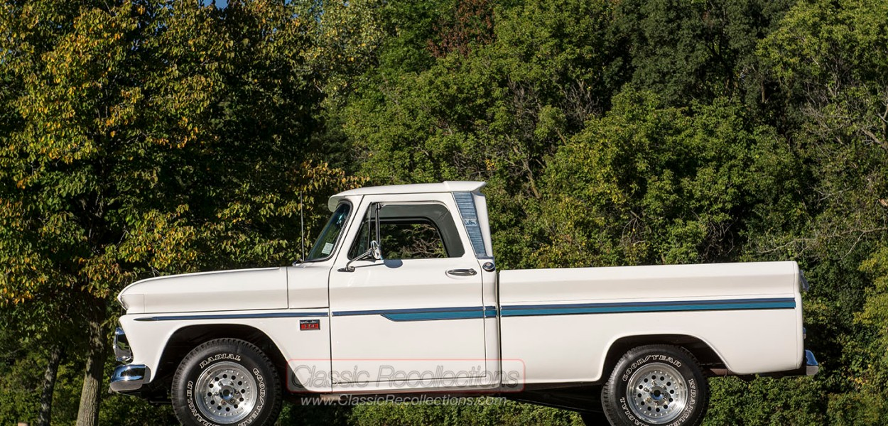This 1966 Chevrolet C10 Custom was restored by Doug Evans and Gary Gehrke.