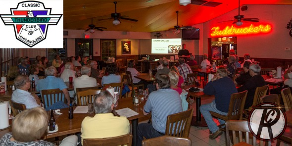 Matt Avery speaking at a recent Chicagoland Classic Thunderbird car club meeting.