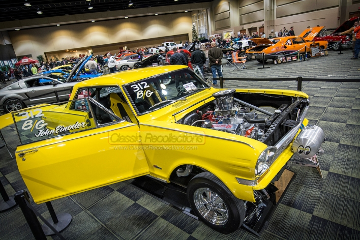 Classic and muscle cars on display at the 2014 Custom Rides Car Show and Expo in Tinley Park, Illinois.
