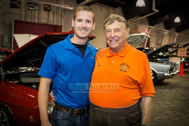 Matt Avery with Jim Wangers, Father of the Pontiac GTO.