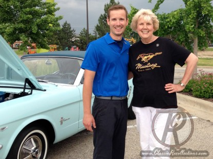 Matt Avery and Gail Wise, owner of the first 1964 Ford Mustang ever sold.