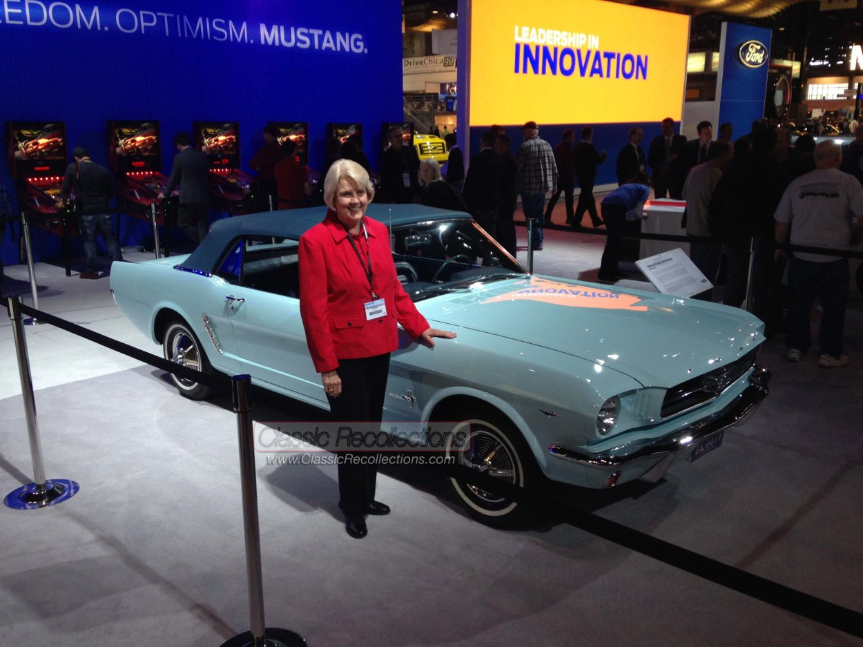 Gail Wise displayed her 1964 Mustang at the 2014 Chicago Auto Show.