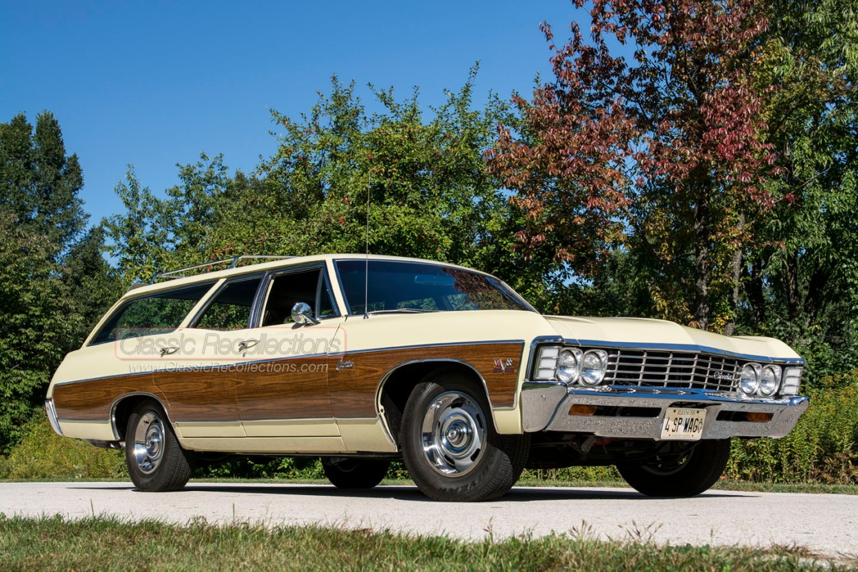 This 1967 Chevrolet Caprice wagon features a four-speed manual transmission.