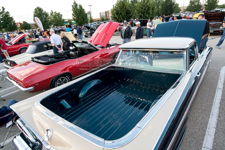 Classic cars parked at the Randhurst Village cruise night sponsored by the Daily Herald and Classic Recollections.