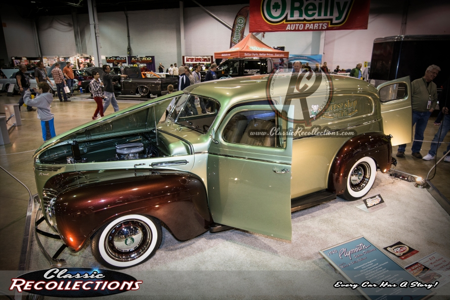 This 1940 Plymouth Sedan Delivery was restored using two other donor vehicles.
