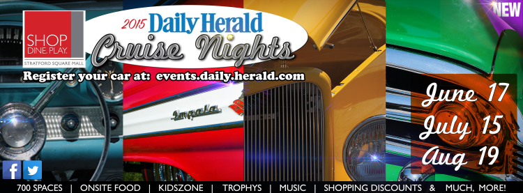 2015 Daily Herald Cruise Nights are at Stratford Square Mall in Bloomingdale, IL.